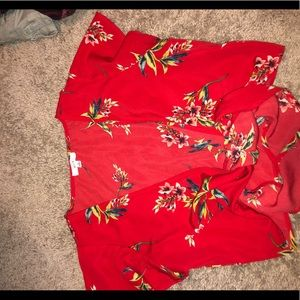 Small floral crop top